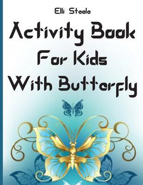 Activity Book For Kids With Butterfly