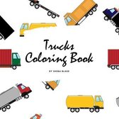 Trucks Coloring Book for Children (8.5x8.5 Coloring Book / Activity Book)