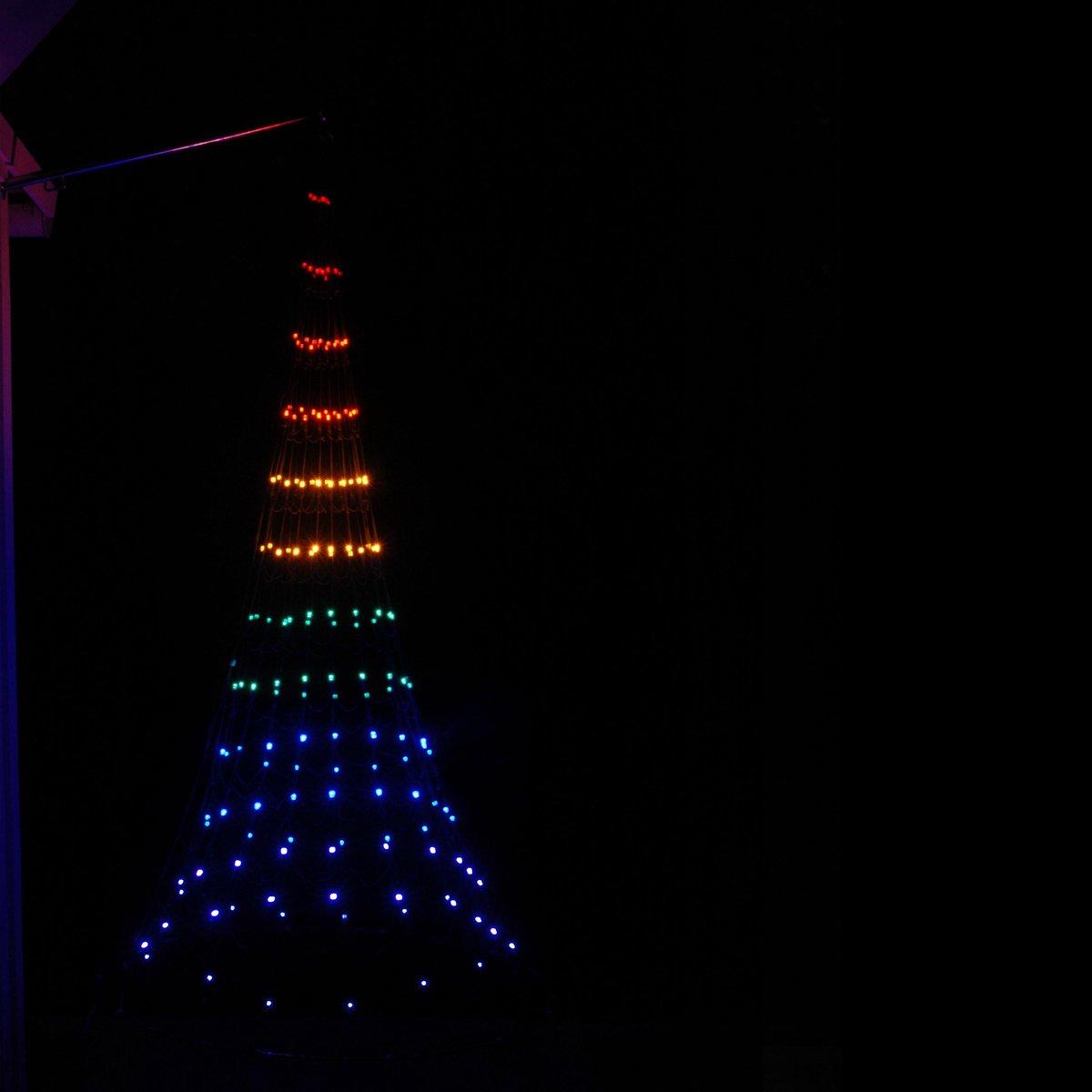 Vlaggenmast Kerstboom 3D 180cm gevelmodel Multicolor kopen