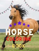 Horse coloring book: Funny Horse Coloring Pages for Kids (Horse Coloring Book for Kids Ages 4-8 9-12)