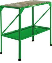 Oppottafel metaal 77 x 40 x 77 cm groen tuinwerktafel