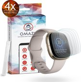 Fitbit Versa 3 / Fitbit Sense OMAZU 3D Flex TPU Screenprotector (100% vingerafdruk scanner compatible) 4- Pack