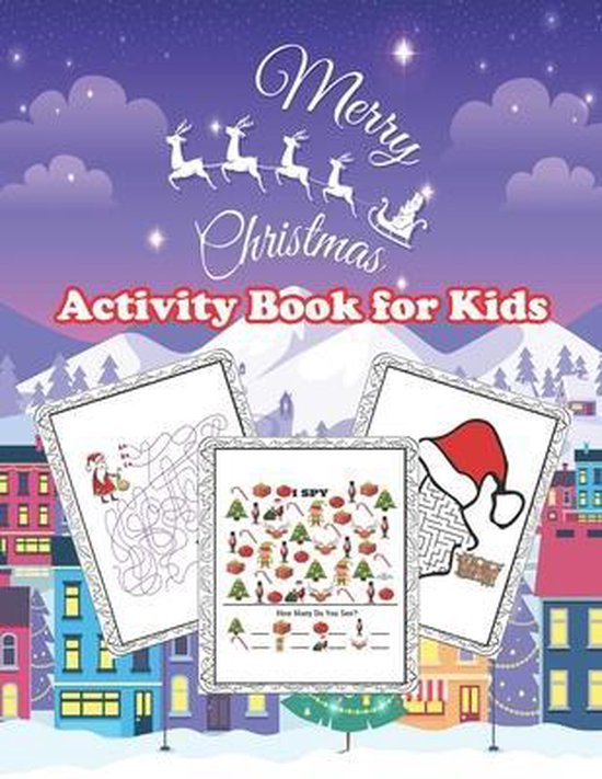 Merry Christmas Activity Book for Kids: