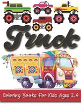 Truck Coloring Books For Kids Ages 2-4