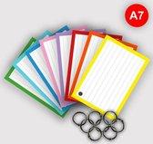 500 Flashcards - Flitskaarten - A7 in 8 kleuren - met gaatjes en klikringen