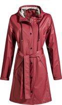 MGO Classic Raincoat Bordeaux - Lange regenjas dames - Maat XL