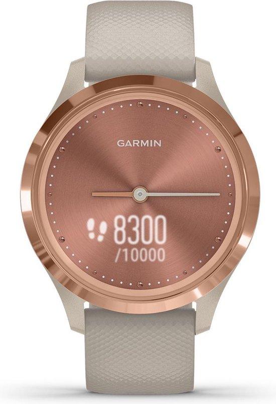 Garmin Vivomove 3S - hybride smartwatch dames - 39 mm - Roségoud