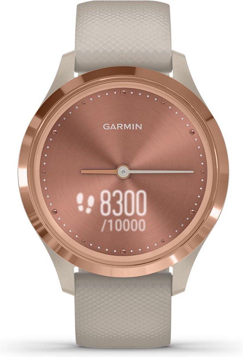 Garmin Vivomove 3S - hybride smartwatch dames - 39 mm - Ros goud