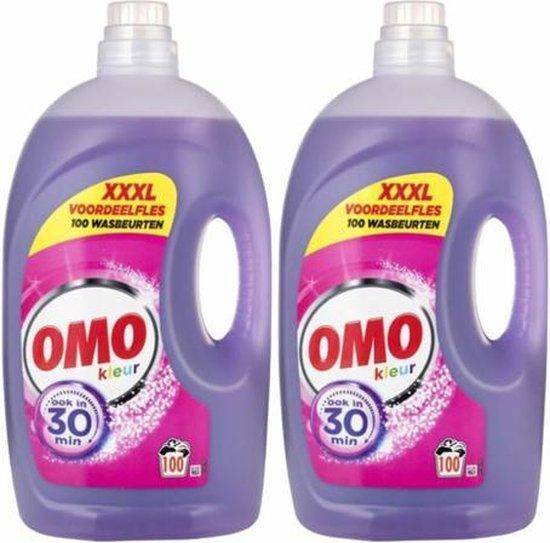 OMO - Vloeibaar Wasmiddel - Kleur - 2 x 5000 ml (200 Wasbeurten) - Voordeelverpakking