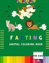 Farting animal coloring book for kids