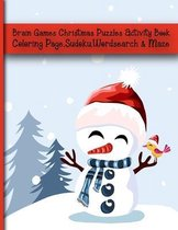 Brain Games Christmas Puzzles Activity Book Coloring Page, Sudoku, Wordsearch & Maze
