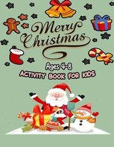 Merry christmas acitvity book for kids ages 4-8