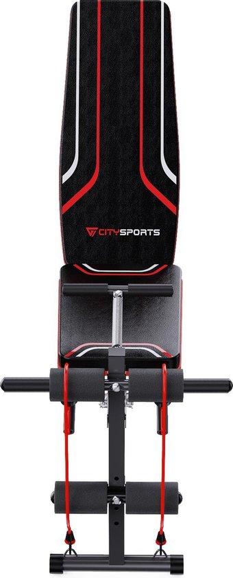 Citysports S2 Halterbank Fitness Bank Trainingsbank Utility Bench met Weerstandsbanden