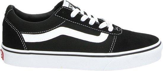Vans Ward Suede/Canvas Dames Sneakers - Black/White - Maat 38
