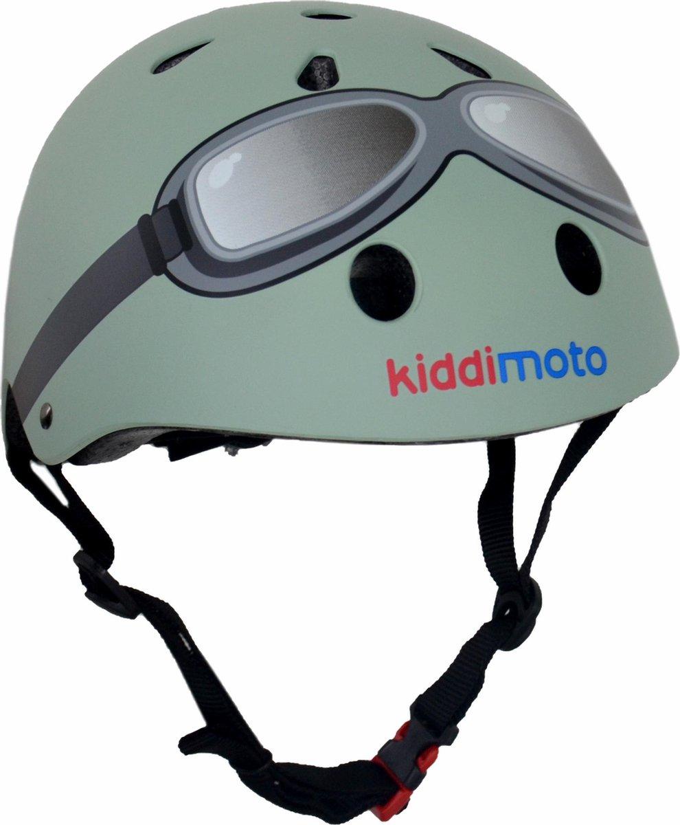 Kiddimoto - Kinderhelm - Small - Mint Groen - KMH108S - 48 tot 52 cm hoofdomtrek