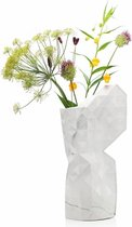 Tiny Miracles - Duurzame Design Vaas - Paper Vase Cover - Marble White - Large