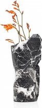 Tiny Miracles - Duurzame Design Vaas - Paper Vase Cover - Black marble - Small