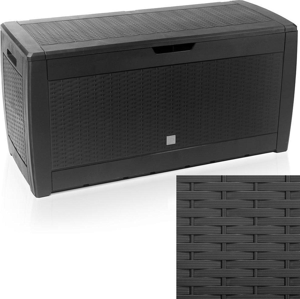 Tuin opbergbox - 310L - UV-bestendig - Antraciet