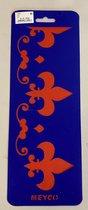 Teken, schilder en/of tamponeer sjabloon Lelie
