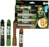 Toi-toys Schminkstiften Camouflage 3 Stuks