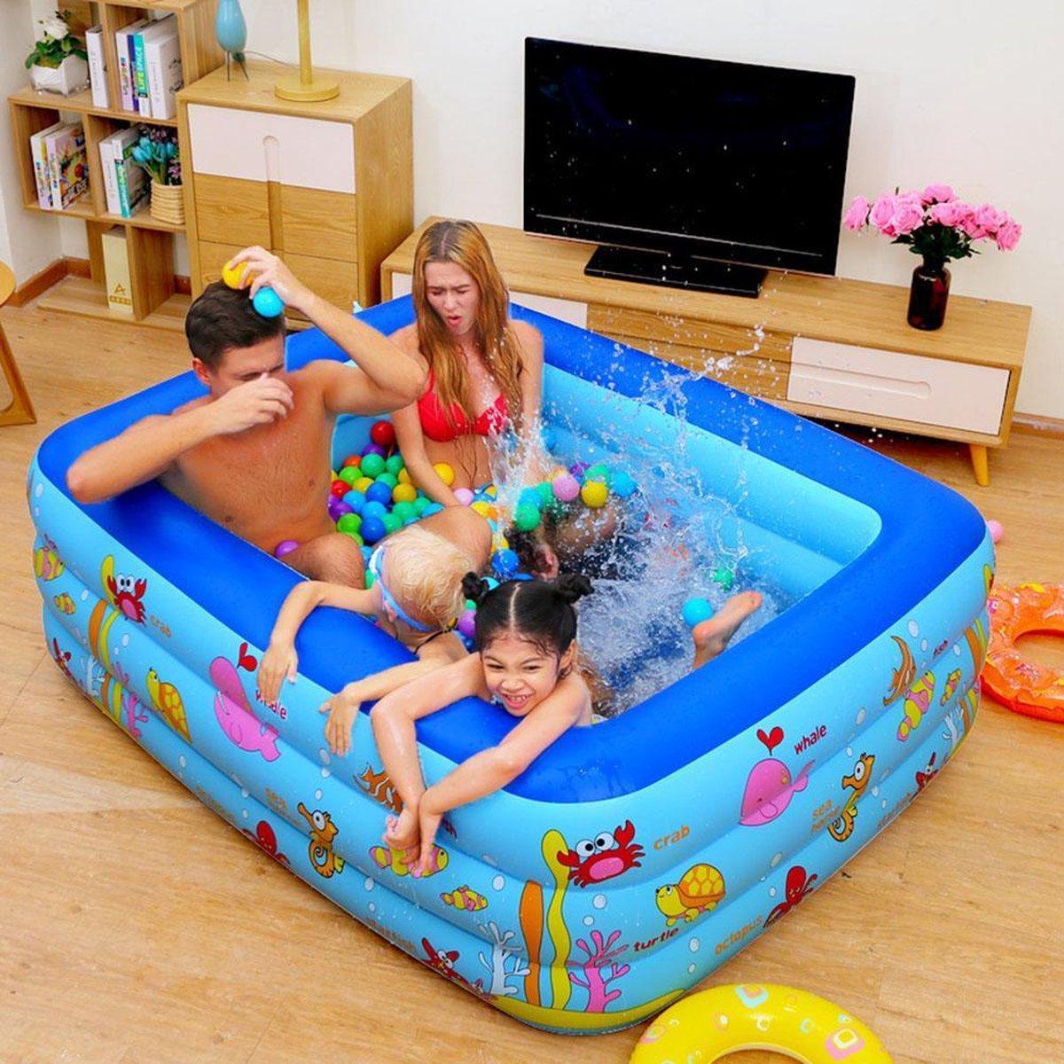 Opblaasbaar zwembad 2.1 * 1.45 * 0.65 meter blauw