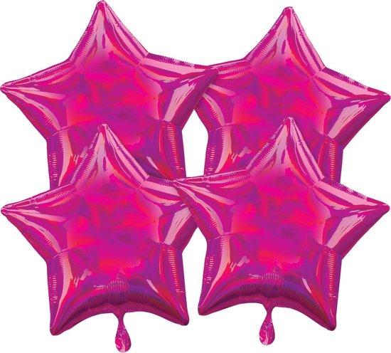 Amscan Folieballonnen Ster 41 Cm Paars 4 Stuks