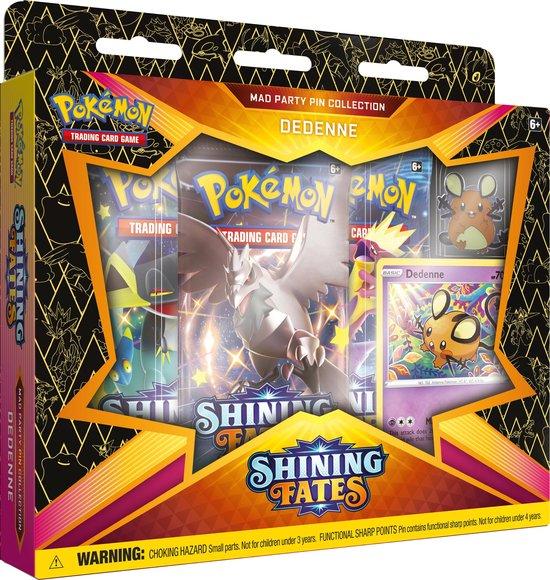 Afbeelding van Pokémon Shining Fates Mad Party Pin Box - Dedenne - Pokémon Kaarten