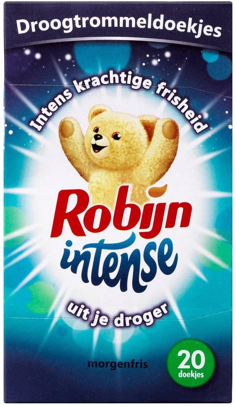 Robijn Morgenfris - 20 stuks - Droogtrommeldoekjes