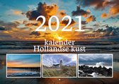 Kalender Hollandse kust - Maandkalender 2021 - 12 foto's van strand, zee en duinen - wandkalender met weeknummers