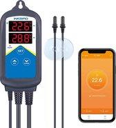 Inkbird WiFi ITC-306A Digitale Temperaturregler met 2 Relais, Verwarming Thermostaat met Dubbele Sonde voor Zoet en Zoutwater Aquarium Terrarium