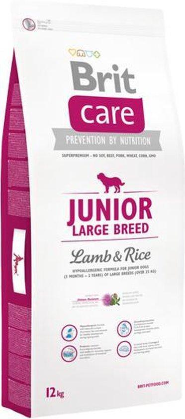 Brit Care hypo-allergeen Junior - large breed Lam en Rijst -12kg