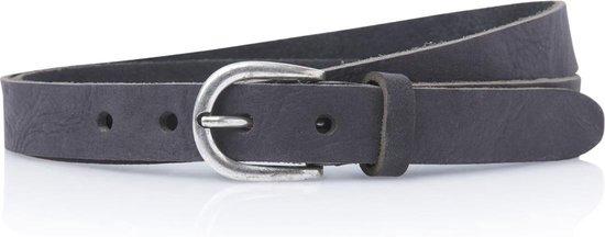 2,5cm smalle zwarte riem – smalle riemen – zwart – 100% nerfleer – maat 95 totale lengte 110 cm