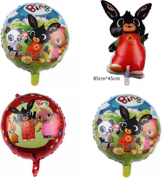 Bing folie ballon, helium, verjaardag, 4 stuks