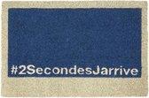 1x Coryl Deurmat Kokos Geek | 2SecondsJarrive Blauw | 60x40cm| Buitenmat Antislip Schoonloopmat Kokosmat