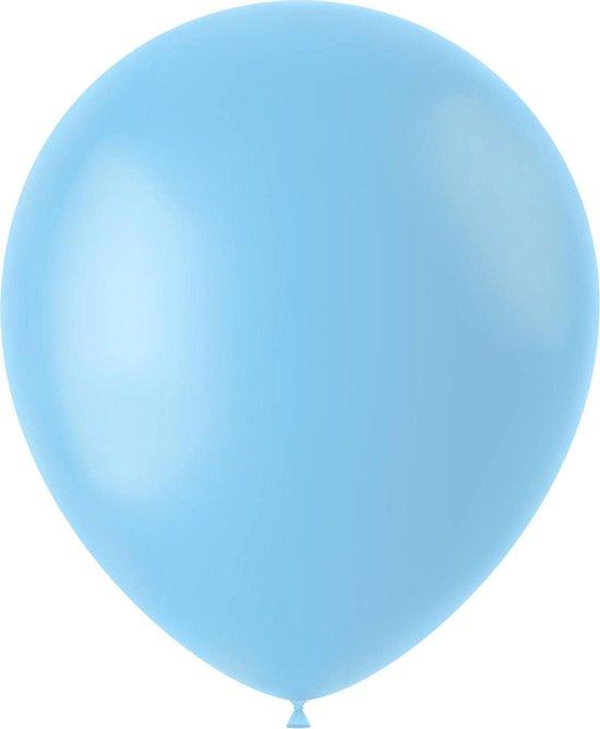 Lichtblauwe Ballonnen Powder Blue 33cm 10st