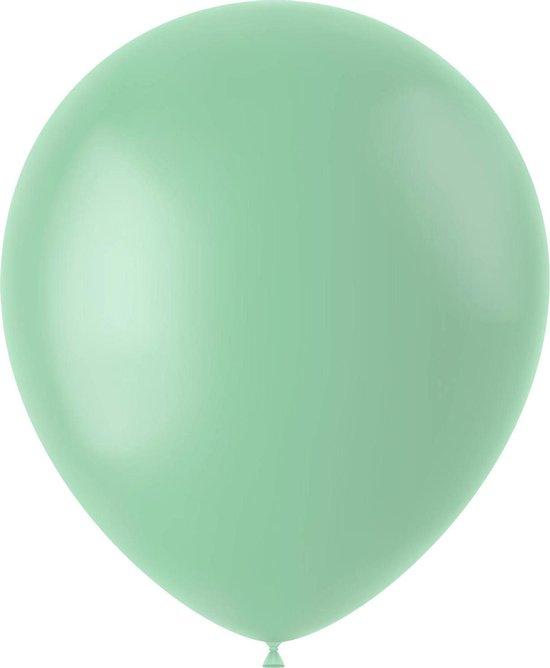 Mintgroene Ballonnen Powder Pistache 33cm 50st