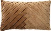 Dutch Decor FEMM - Sierkussen velvet Tobacco Brown 30x50 cm