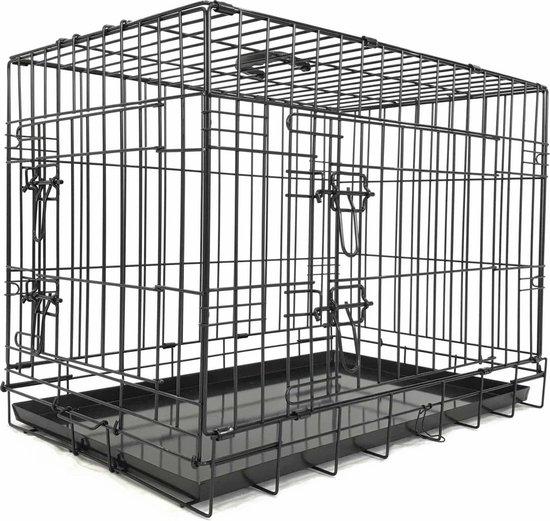 Adori Bench 2-Deurs De Luxe Zwart - Hondenbench - 107x71x78 cm