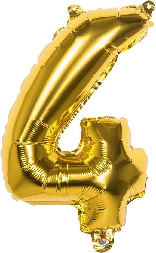 Boland Cijferballon 4 Folie 66 Cm Goud