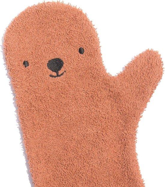 Baby Shower Glove Bear roest bruin