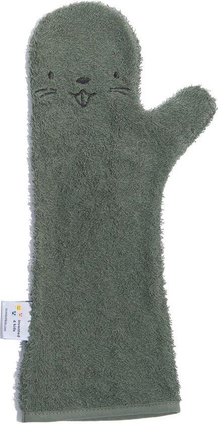 Baby Shower Glove Beaver donker groen