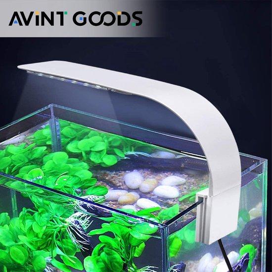 AVINT GOODS® – Aquarium verlichting LED – Vissenkom – 1 Meter snoer – Aquariumverlichting – Groeilamp – Energie Besparend - Wit