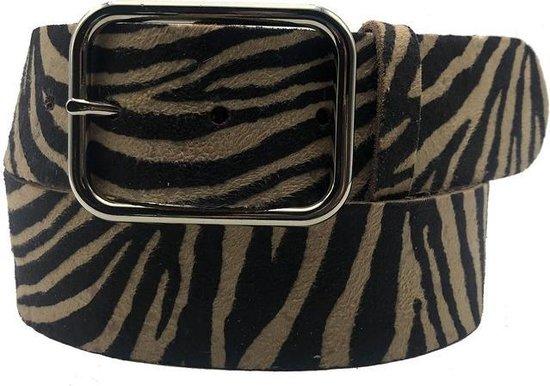 Zebra riem - Zebra V42 Black/Sand  Dames riem - Broekriem Dames - Dames riem -  Dames riemen - heren riem - heren riemen - riem - riemen - Designer riem - luxe