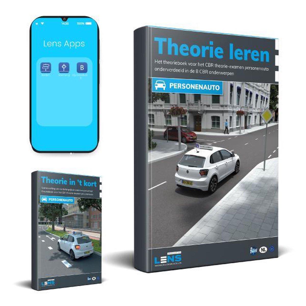 Theorieboek Rijbewijs B 2021 Auto met Samenvatting en Apps - Theorie Leren CBR examen