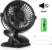 Krachtige Mini Fan - Zwart- Bureau ventilator - 3 Standen - Stille Ventilator - Compact - Ventilator Tafelventilator Roze - Stille Mini Usb Fan - Bed Ventilator - Luchtkoeler - Klein, Stil en Geruisloos - 360º Draaibaar - Kantoor - Reizen