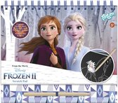 Disney Frozen - Totum kraskaarten- en kleurboek - 10 pagina's, sjabloon, stickers - harde kaft, ringband, luxe glitterkaarten - 21 x 23,5 cm