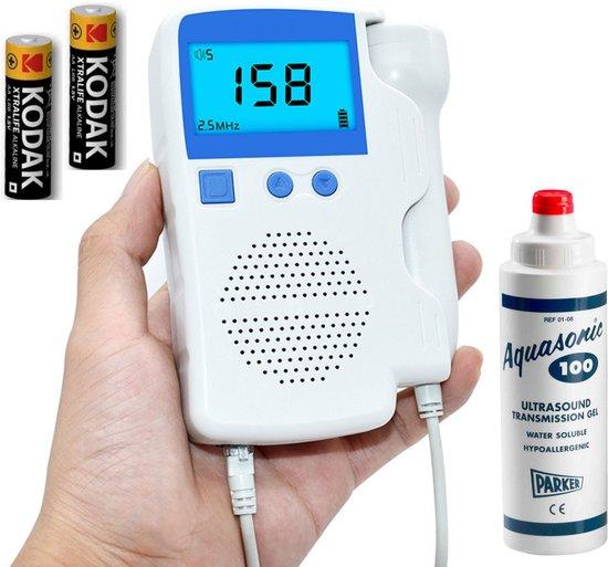 Doppler Set Steddy - Baby Hartslagmeter Monitor - Pret Echo - Angelsound - Hartje - Ultrasound Gel