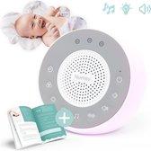 Numsy® Lumi White Noise Machine Baby - Slaaptrainer - Muziekdoosje Baby - Nachtlampje - Nachtlampje Kinderen - Witte Ruis Machine