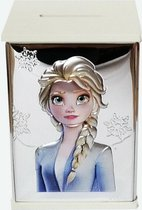 Disney Moneybox Elsa white wood back