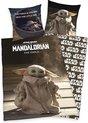 Star Wars The Mandalorian Dekbedovertrek- 140x200cm- katoen- 1persoons- dubbelzijdig design- Baby Yoda